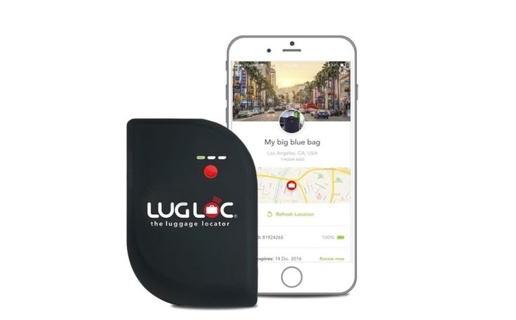 """Cost: $69.99 Never lose your luggage again with the help of <a rel=""""nofollow"""" href=""""https://shop.lugloc.com/lugloc-device"""">Lugloc</a>. After placing this small tracking device in your suitcase, you can track its location with your smartphone. Lugloc contains a 15-day rechargeable battery, so it will always be ready to track your bag when you need it most. Tracking is free for the first month, after which you can buy a monthly service plan to track your suitcase around the world. Pl..."""