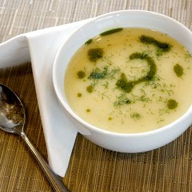 Fennel and Leek Soup, a recipe from ATCO Blue Flame Kitchen's Holiday Collection 2012 cookbook.