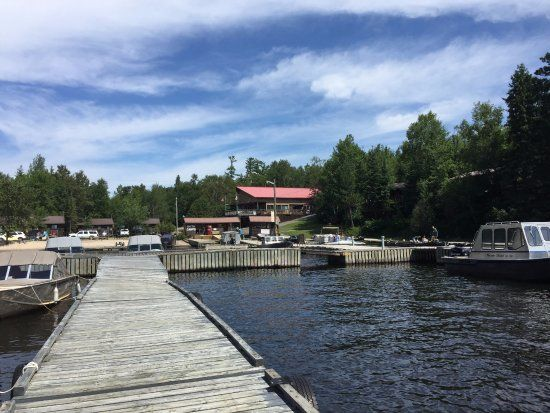 View of Smith Camp and Pilots Pub from dock,  Old Pilots Pub, Storm Bay Road | Smith Camps, Keno