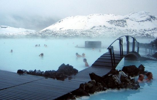 The Icelandic Blue Lagoon - a hot geothermal pool encased in natural silica - the ultimate spa retreat!