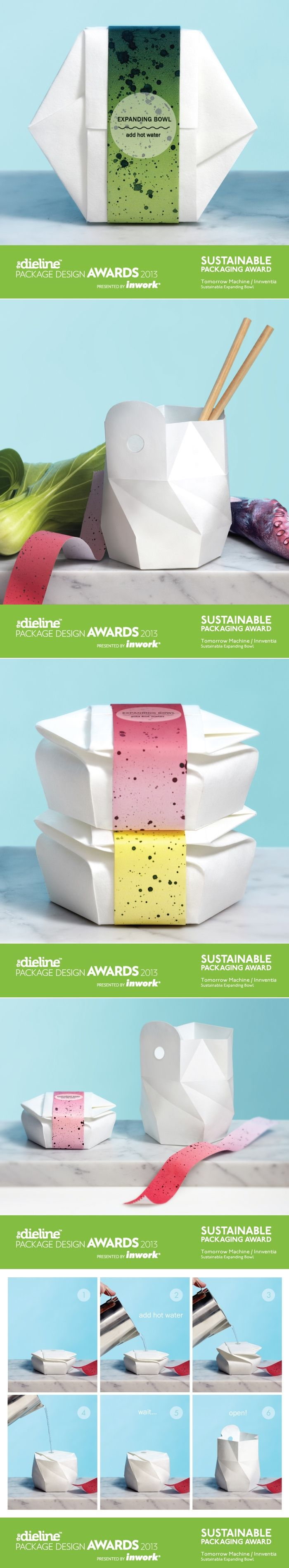 The Dieline Package Design Awards 2013: Sustainable Packaging Award - Sustainable Expandable Bowl — The Dieline | Packaging & Branding Design