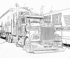 R sultats de recherche d 39 images pour coloriage de camion americain dessin truck - Camion americain dessin ...