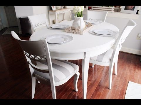 (19) Chalk Paint Kitchen Dining Table - YouTube
