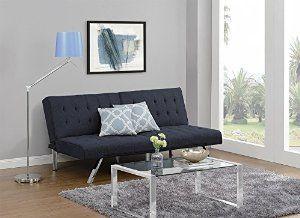Price: $179.99 DHP Emily Convertible Linen Futon, Navy