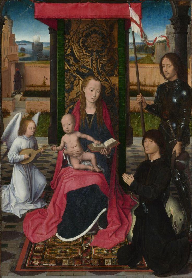 Ганс Мемлинг - Мадонна с младенцем и ангел