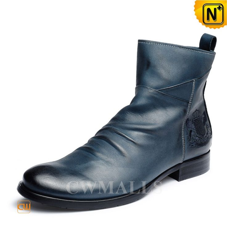 CWMALLS® Mens Vintage Leather Ankle Boots CW726502 Vintage Men's leather ankle boots with rubber heels and side zipper closure. Handcrafted ankle boots crafted from hand polished grained calfskin leather upper and leather lining, CWMALLS men's dress boots features hand wrinkled vamp, embr on ankle.  www.cwmalls.com PayPal Available (Price: $248.89) Email:sales@cwmalls.com