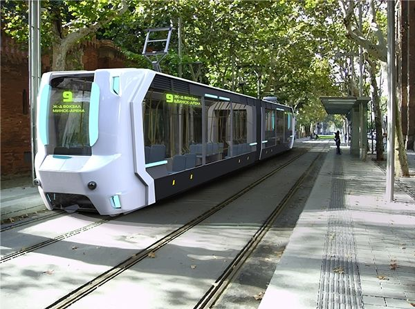 concept low-floor automatic tram (student project) on Behance
