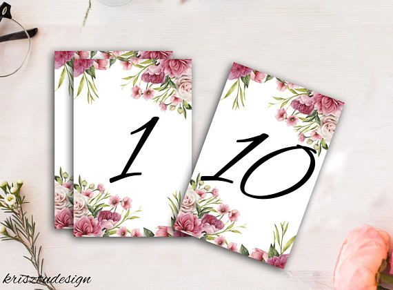 Wedding table number cardsWedding table signTable
