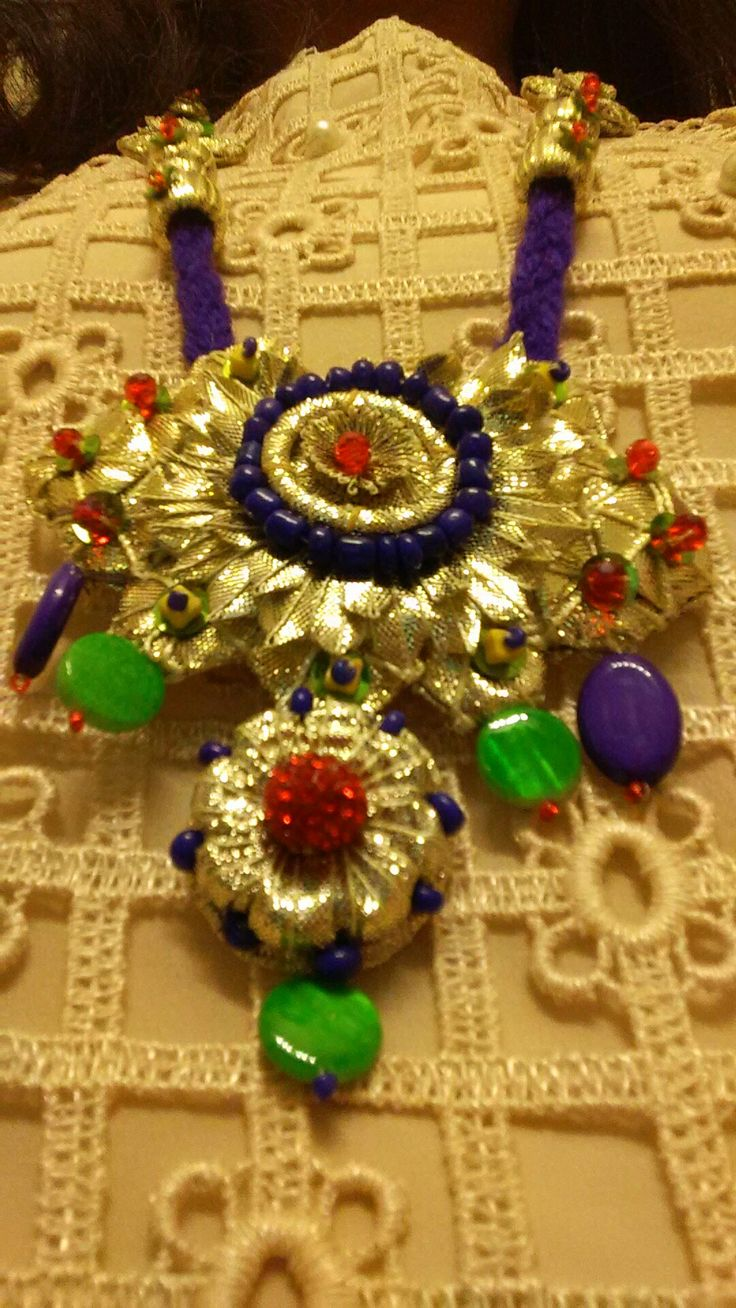 Dull gota Maala with multi color beads  Creative World of A