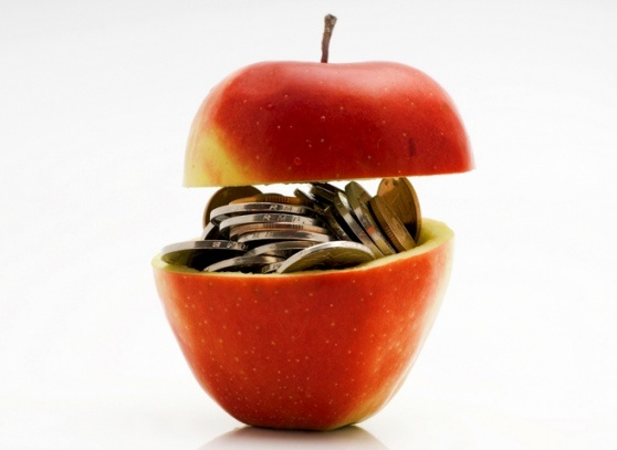 Illustration of Apple high stock price.