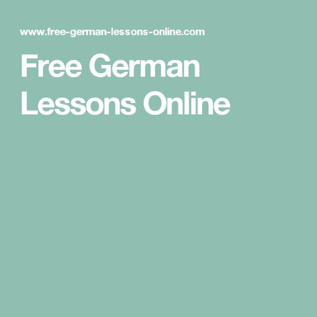 Free German Lessons Online