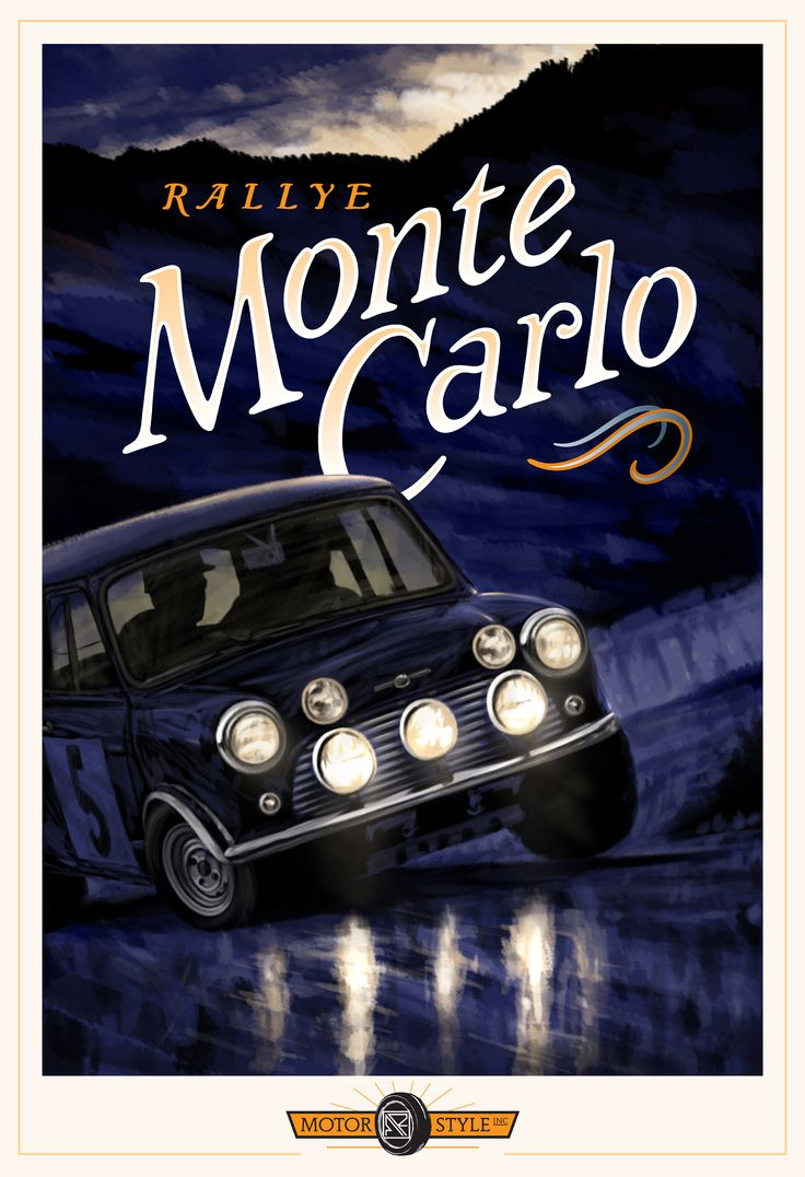 Rallye Monte Carlo poster by Michael Reilly
