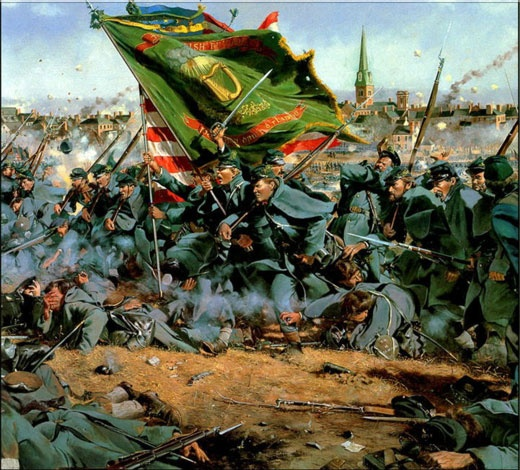 """""""Clear the Way"""", The charge of the Irish Brigade at Fredricksburg - American Civil War, by Don Troiani"""