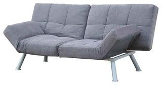 Convertible Upholstered Futon Sofa in Charcoa - Contemporary - Accessories And Decor - by ivgStores