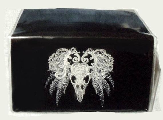 Checkbook Cover Raven Wiccan, Pagan, Pagan Embroidery,Familiar Totem