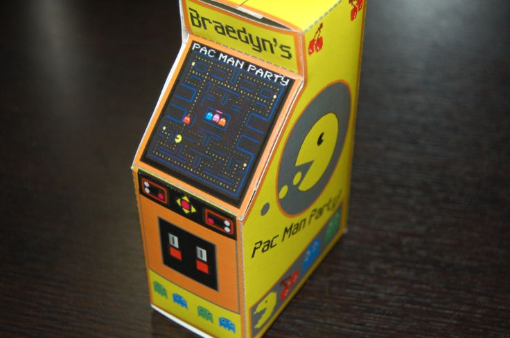 Pac Man party favor boxes