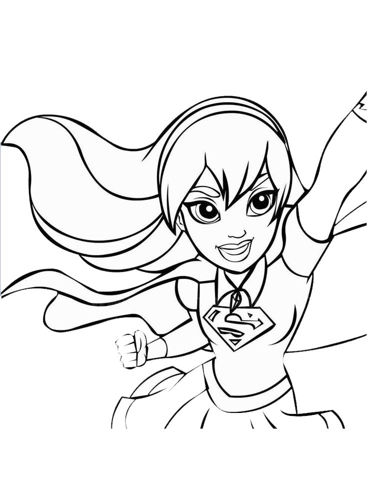 20++ Superhero coloring pages girl inspirations