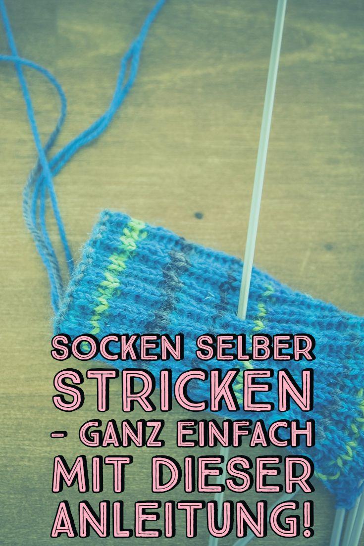 Socken selber stricken – ganz einfach mit dieser Anleitung
