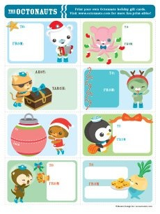 Gift tags (link: http://www.octonauts.com/im/goodies/octonauts_giftcards.pdf)