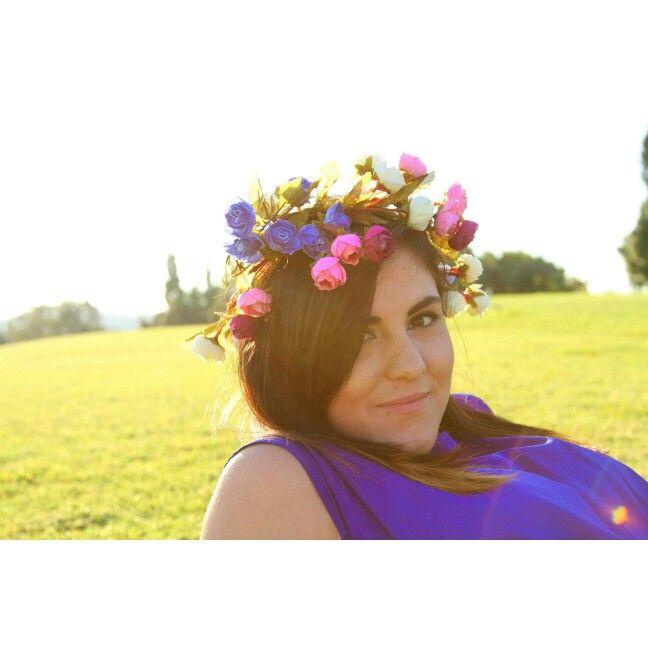 Star in my home made flower crown #diy