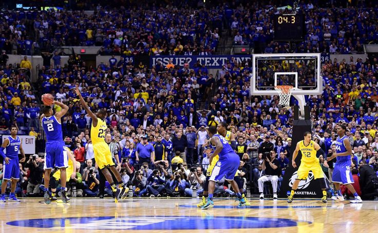 The shot.  3/30/14.  Aaron Harrison sinks the winning basket to advance the Kentucky Wildcats to the Final Four