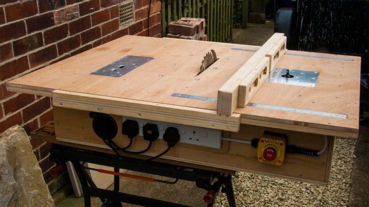 Hi this is my take on a homemade table saw, router table and inverted jigsaw, I built all 3 into the same table to save on space I am very pleased with the r...