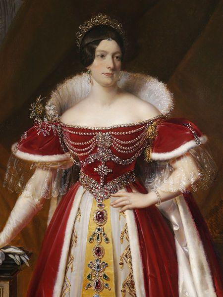 Portrait of Frances Anne Vane, Marchioness of Londonderry, 1831, by Alexandre-Jean Dubois-Drahonet (French, 1791-1834)