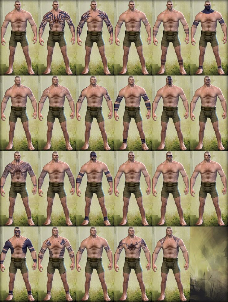 Norn male tattoos http://wiki.guildwars2.com/images/c/c5/Norn_male_tattoos.png