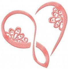 Infinity heart free embroidery design