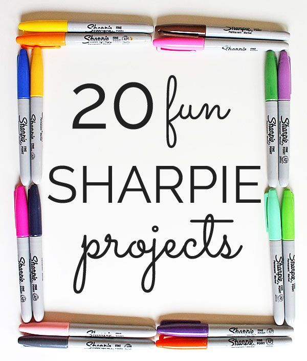20 awesome ideas using Sharpies via www.theshabbycreekcottage.com