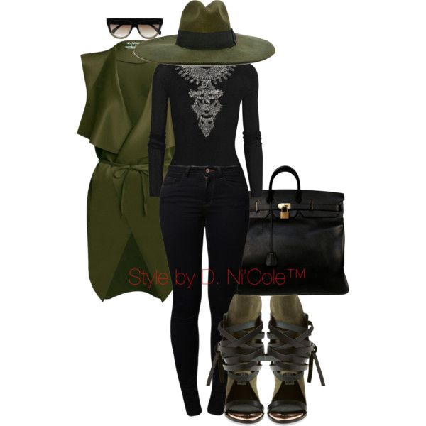 Untitled #3003 by stylebydnicole on Polyvore featuring T By Alexander Wang, Noisy May, Ivy Kirzhner, Hermès, DYLANLEX, Diesel and CÉLINE