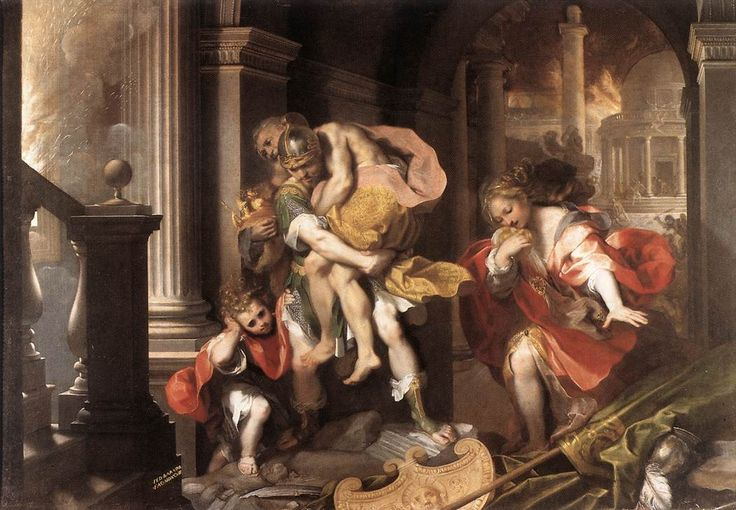 Aeneas' Flight from Troy by Federico Barocci - Federico Barocci — Wikipédia