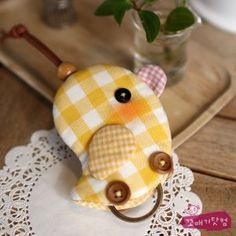 """oh so cute!...although it's a key holder...it would make a great """"pull toy"""" for a doll or bear..."""