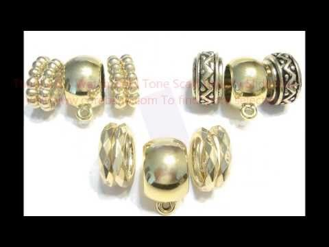 How to make scarf jewelry 5 [HD]- Gold Tone