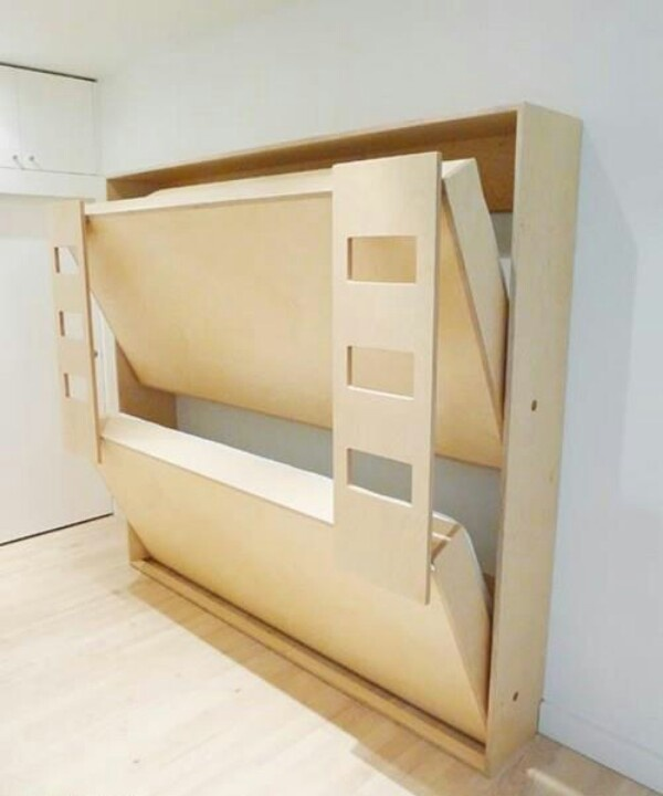 So cool!! Bunk/Murphy bed!!