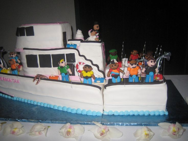 A Fishing Boat Wedding Cake Awesome Cakes Big And