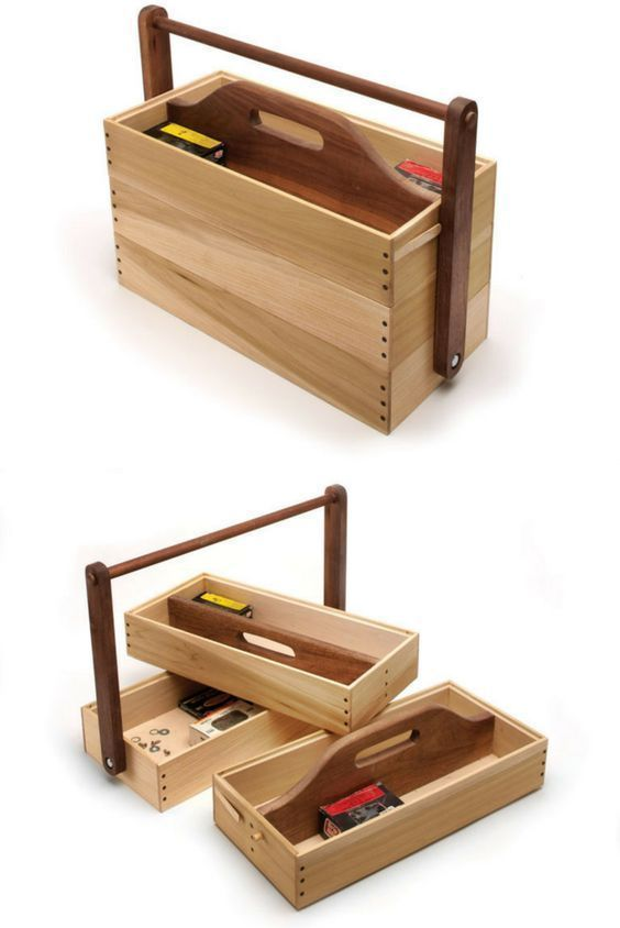Stacking Tool Caddy - Popular Woodworking Magazine #WoodworkingTools #WoodworkCrafting
