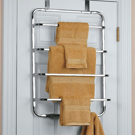 Furniture, Tier Over The Chrome Door Towel Rack With Floor Standing Towel Rack And Towel Racks Free Standing: Put Free Standing Towel Rack t...