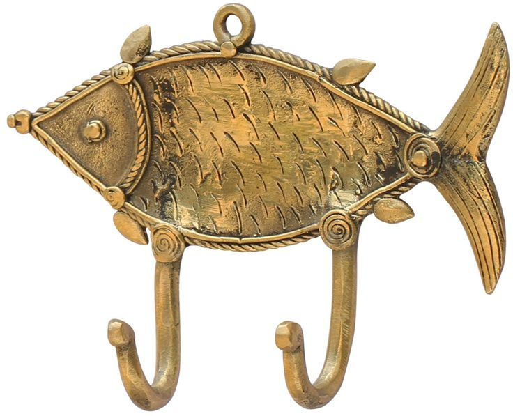 Let's Hook The #Fish! - Handmade #Wall Mounted #Double Robe #Hook In Bronze Metal - Rustic-look Wall #Decor