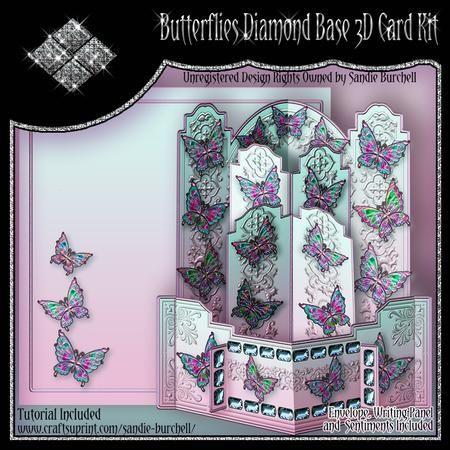 Butterflies Diamond Base 3D Card Kit