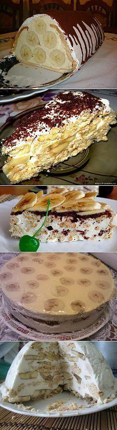 Торт из птортеченья банановый