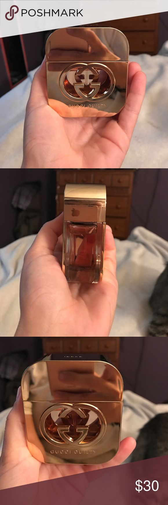 Gucci Guilty perfume Gucci Guilty some small marks and small scratches on the bottle. Just not something I wear anymore. About 3/4 full just check out the pictures its the 1.6 oz.  pet friendly smoke free home! Gucci Other