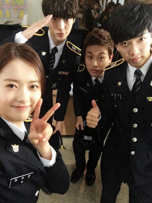 You're All Surrounded drama... currently watching. sooo goood! It felt as if every episode went by super fast! This show was really good..