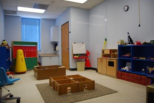 Play Room at the University of North Texas - Center for Play Therapy     We like how much space the children have to play!