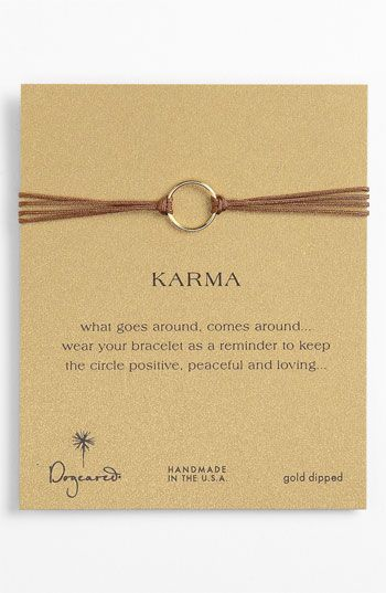Simple bracelet leather circle  gold diy Dogeared 'Karma Circle' Cord Bracelet available at #Nordstrom