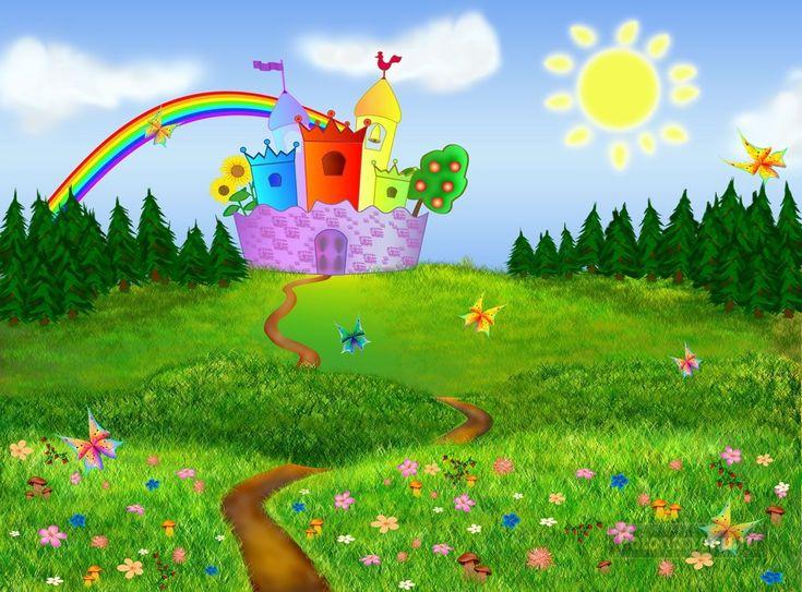 картинка цветочный луг в сказочной стране