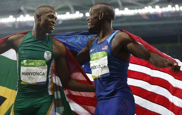 Rehabilitated drug addict Luvo Manyonga has won South Africa's sixth medal of…