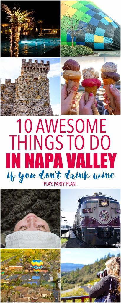 10 awesome things to do in Napa Valley, California, things that are great for everyone even if you don't drink wine. I seriously have to try mudding, sounds so awesome!