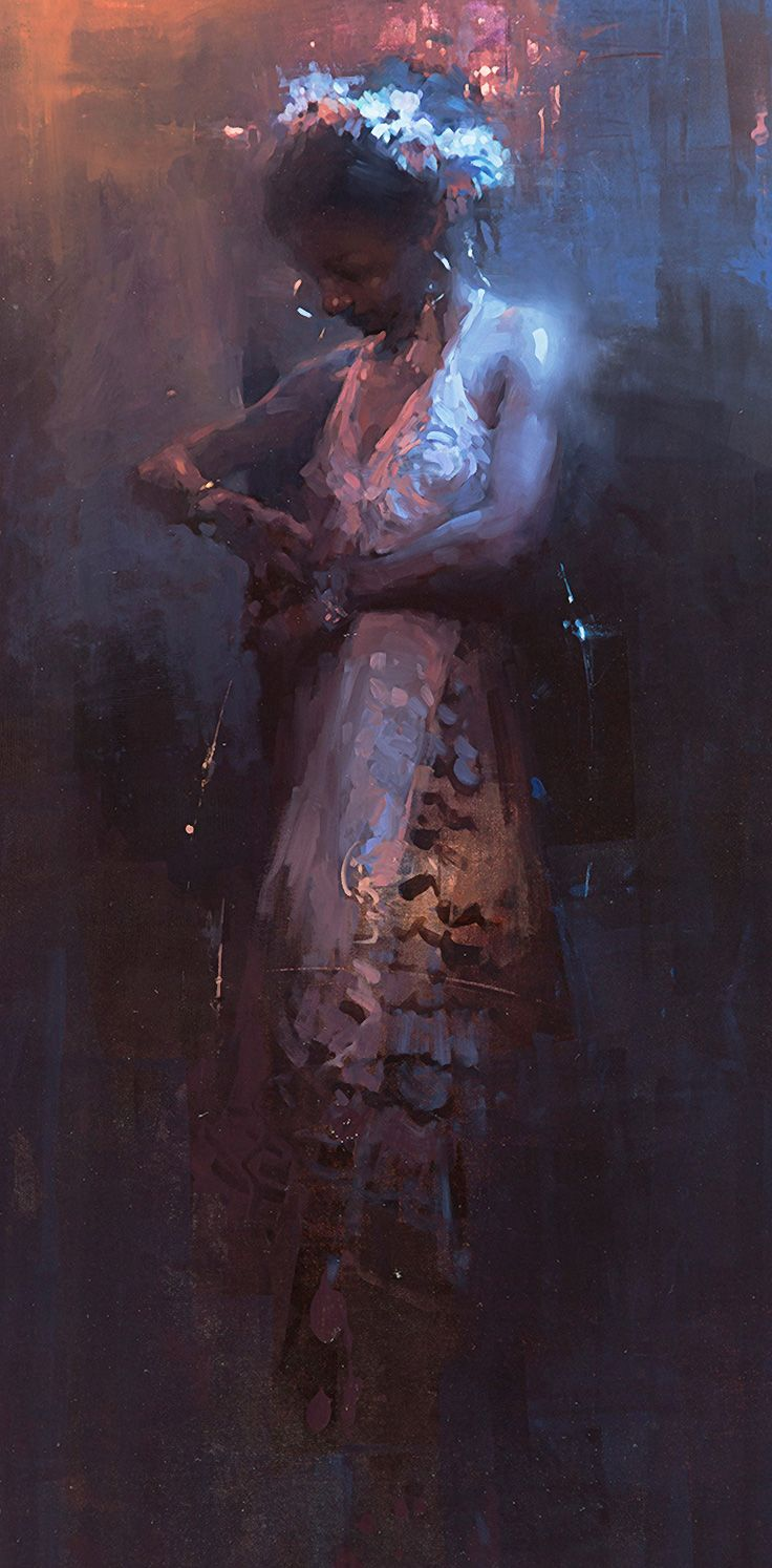 Eve jeremy mann oil on canvas panel contemporary