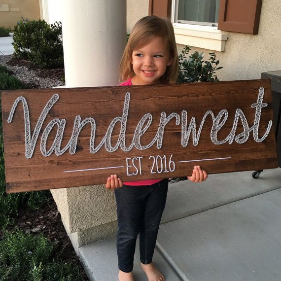 LARGE String Name Board - custom name with or without year established
